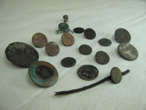 Buttons found on Ft. George Cay