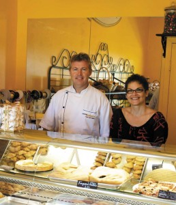 Eric Cuvillon and Tatjana Milovanovic display Caicos Bakery's selections.