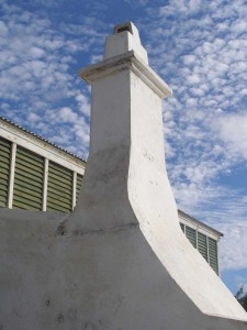 Bermuda chimney salvaged from Roberts House restoration in Grand Turk