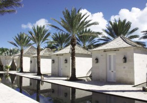The Regent Spa private treatment rooms encircle a tranquil pond.