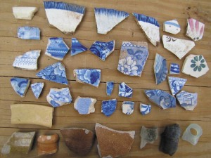 Artifacts from historic farmstead on Grand Turk