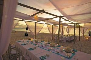 Grace Bay Beach wedding tent