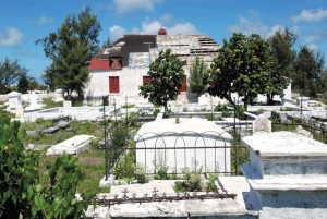 St. Thomas's church and graveyard in Grand Turk