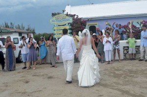 Newlyweds arrive