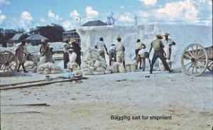 Bagging salt for shipment