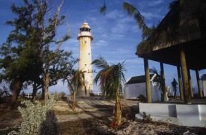 Since 1852, the Grand Turk lighthouse has been warning passing ships of the treacherous reefs around the island.