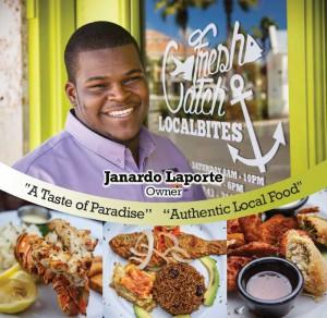 Janardo Laporte at Fresh Catch, his restaurant in The Saltmills.