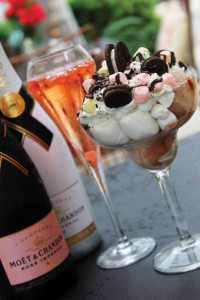 Champagne and sundaes is a quirky combination that works.
