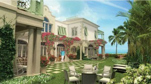 The Shore Club's exclusive estate villas include private garden courtyards.