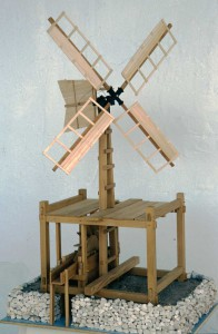 "1:12 scale windmill model of ""Derek"" built by Ships of Discovery"