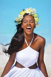 Shanice Williams, Miss Universe Turks & Caicos 2014, on Leeward Beach.