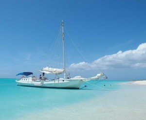 The 77-foot schooner Atabeyra offers visitors and residents a taste of TCI paradise.