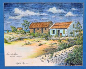 """Helen's painting """"Conch Bar,"""" is the property of this article's author."""