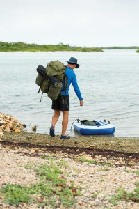 Adventurer John Galleymore sets off on his unsupported walk from South Caicos to Providenciales — a TCI first!