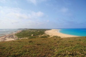 View of Great Sand Cay, the tip of the Turks Islands
