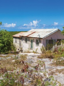 Constance Hall's home in Bambarra, Middle Caicos, still stands today.