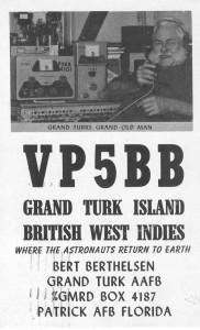 Ham radio card from Grand Turk.