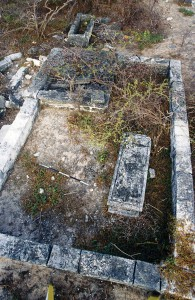 One of the larger enclosures of The Island's cemetery.