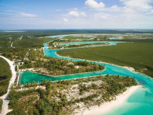 The North Caicos Marina development includes a network of lined canals and lots with utilities in place.