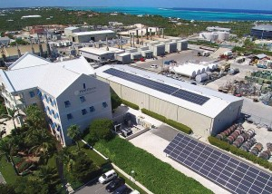 The solar photovoltaic system at the FortisTCI headquarters in Providenciales.