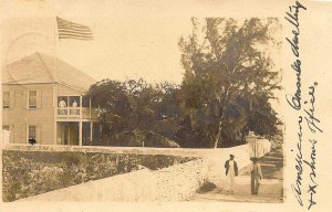 "This 1905 ""Real Picture Postcard"" shows the American Consulate on Grand Turk, later converted into the famous Turks Head Inn."