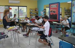 Grade 6 students at the International School preparing for GSAT.