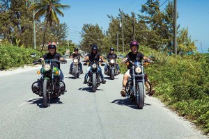 Avid motorcycle riders regularly cruise Providenciales' paved roads.