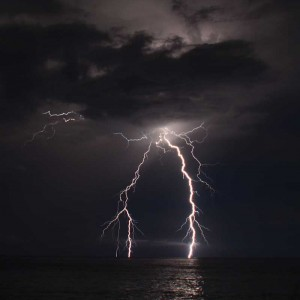 Lightning can heat the surrounding air instantly to 54,000ºF.