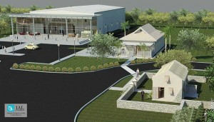 Architectural vision of the planned National Museum in The Village at Grace Bay.