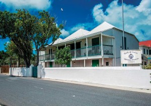The Guinep House in Grand Turk provides exhibit space for the museum.