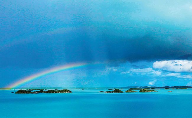 Beatrix Neuhaus captured this rainbow over Chalk Sound.